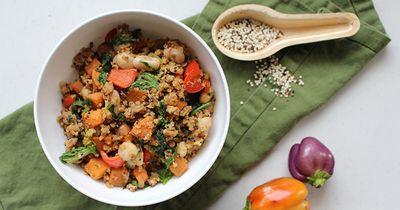 Sweet Potato and Quinoa Hash