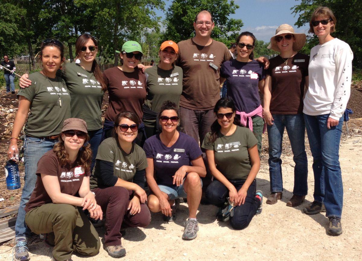 Staff  at Garden Construction Day