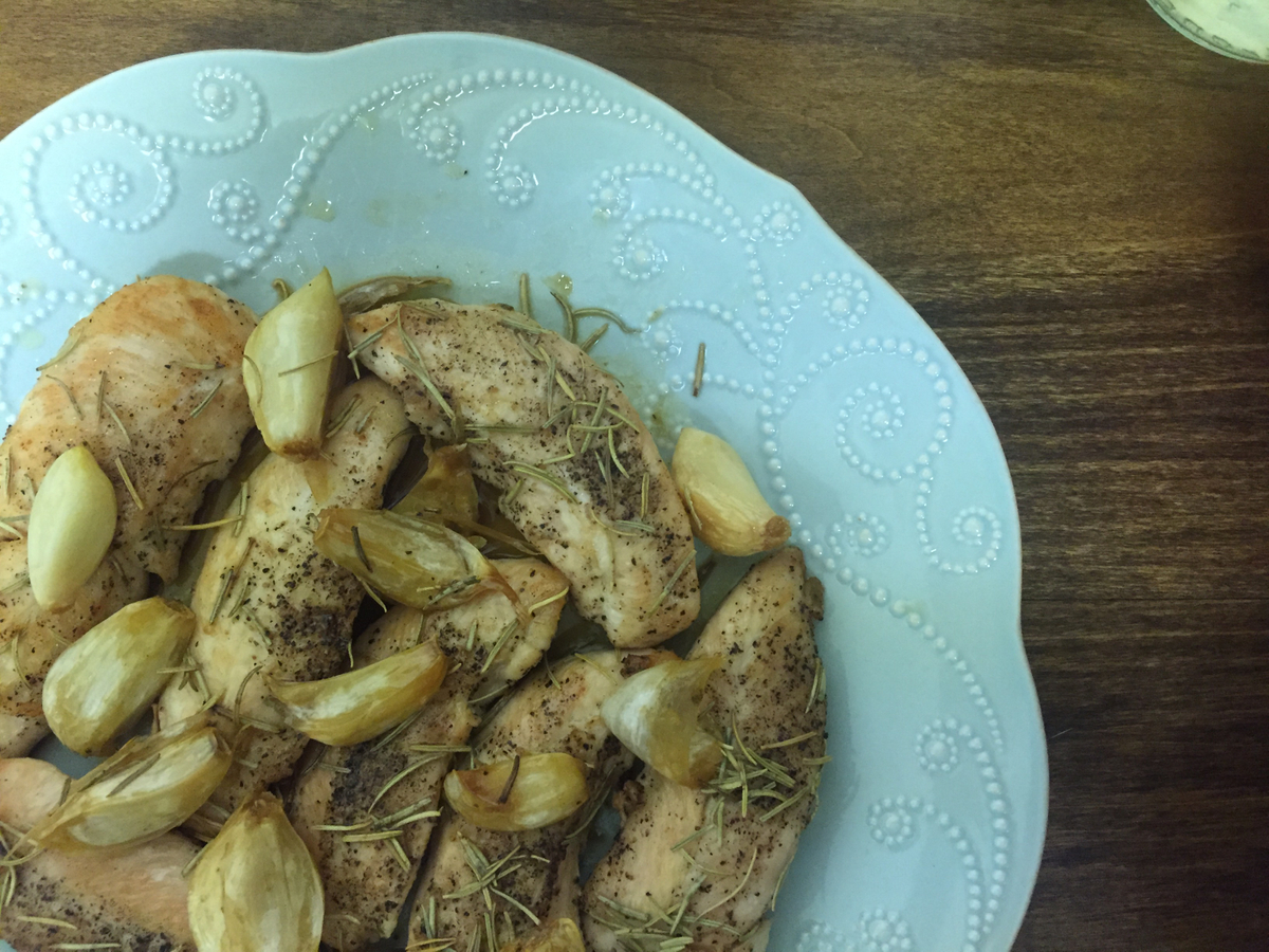 Roasted Garlic and Rosemary Chicken