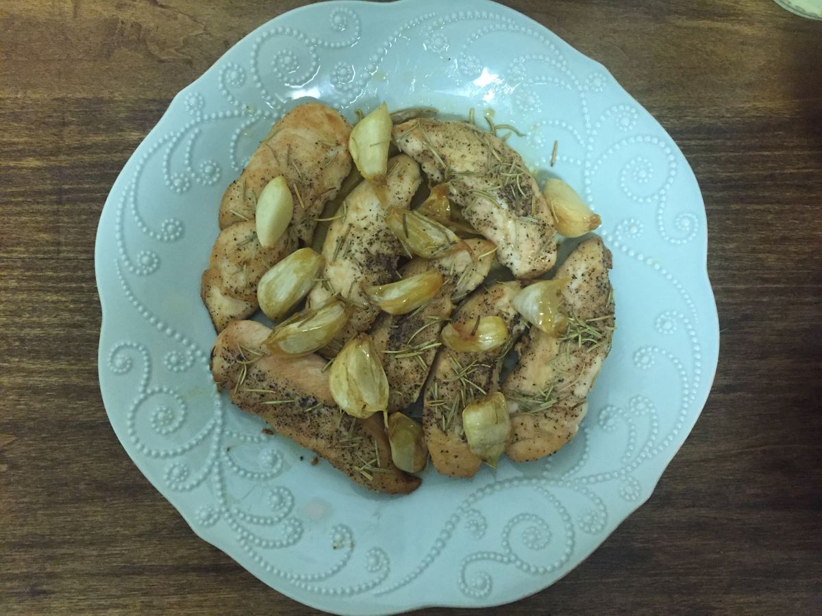 Roasted Garlic and Rosemary Chicken