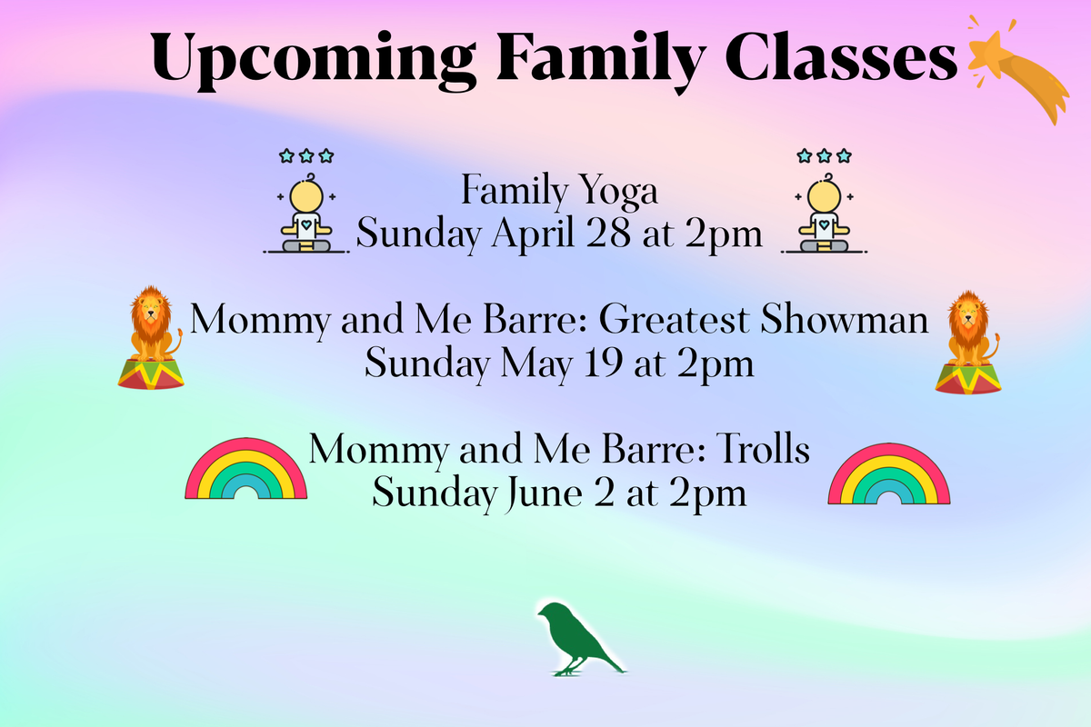 Family Yoga and Mommy and Me Barre