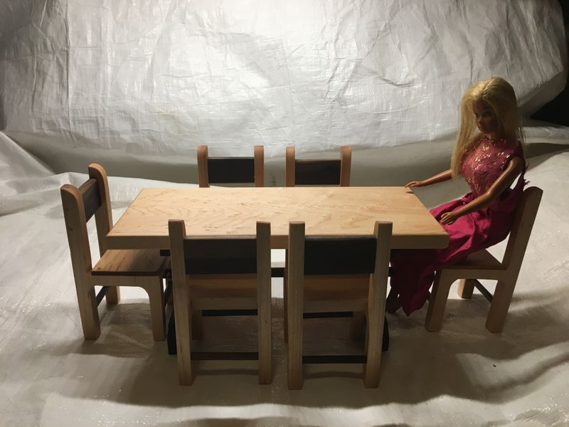 Barbie Doll Table and chairs