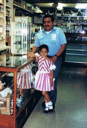 Victor C. Ortiz & daughter Alejandra Ortiz – 1988