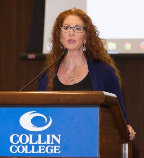 Cheryl Giving Speech Collin College.jpg