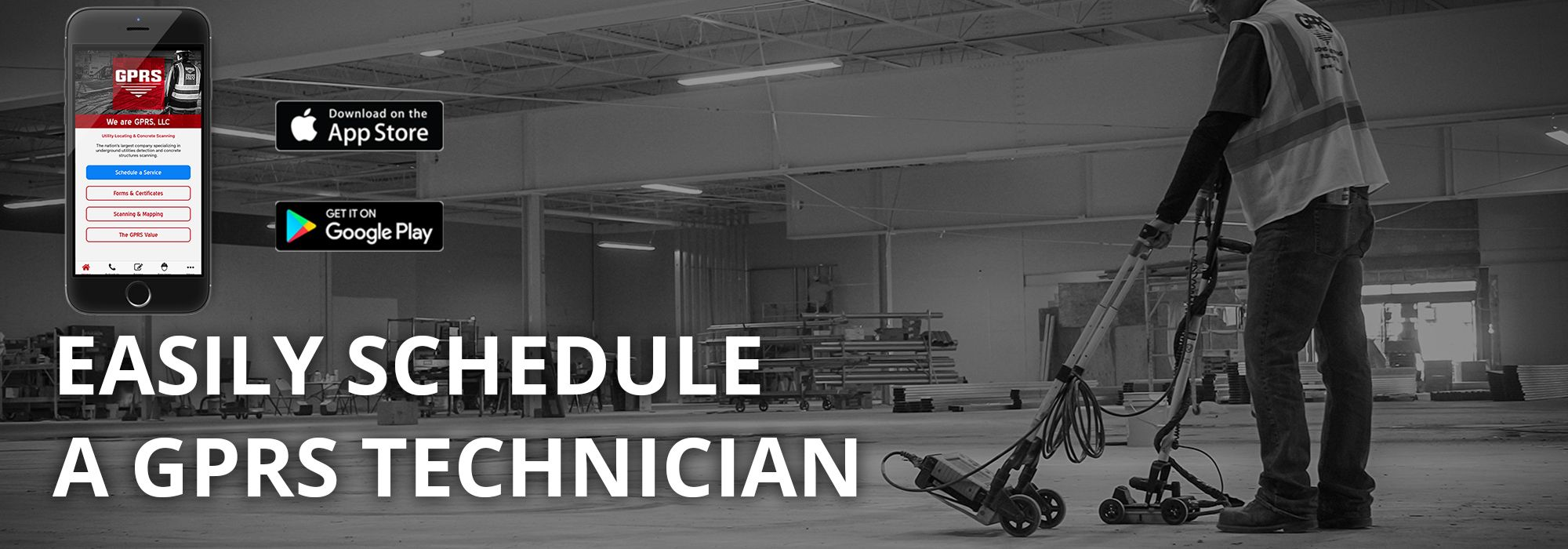 Easily Schedule A GPRS Technician with our App