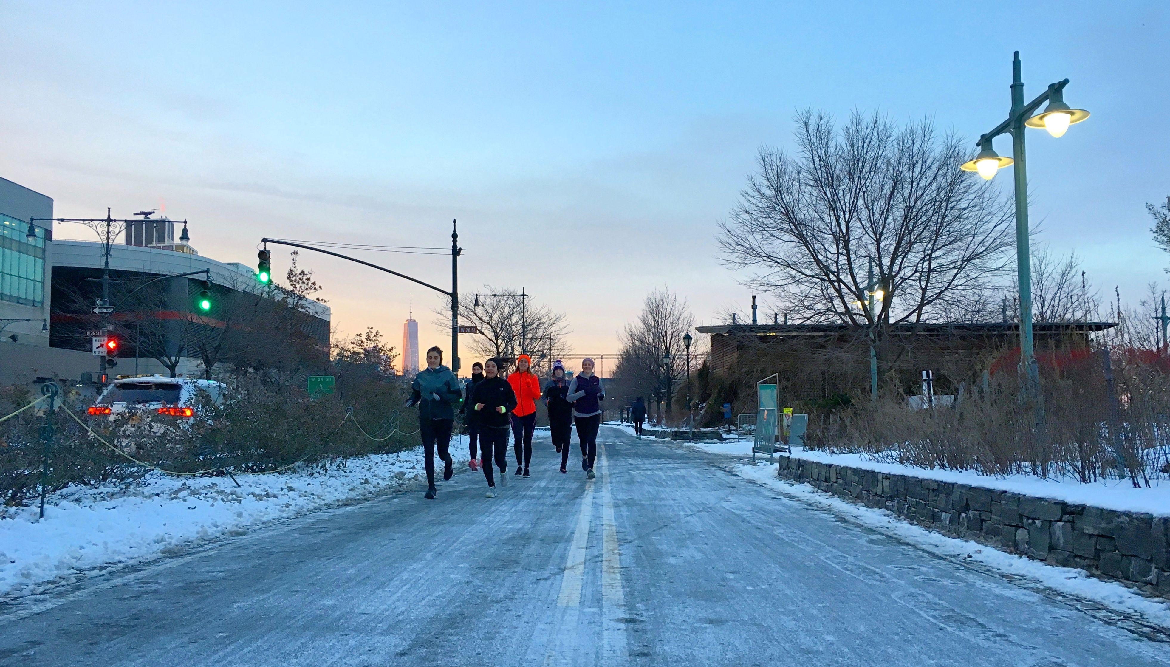 Outrun the cold.