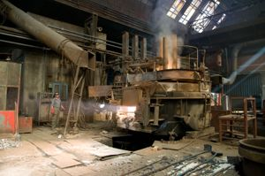 Electric furnace at one of Carson Casting's network foundry.