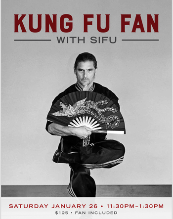 Kung Fu Fan with Sifu