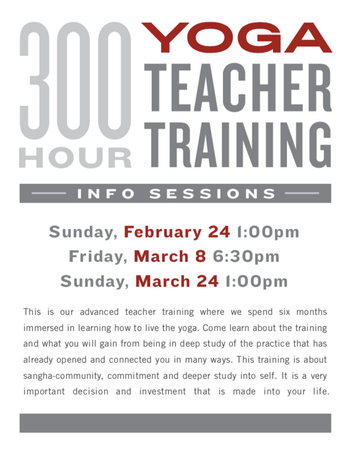 300 Hour Yoga Teacher Training Info Session