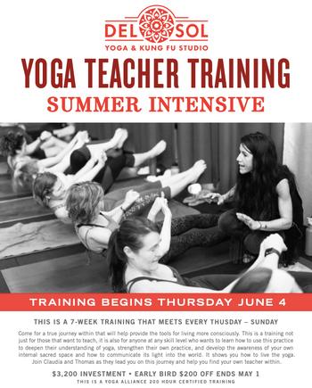 200 Hour Summer Yoga Teacher Training Intensive