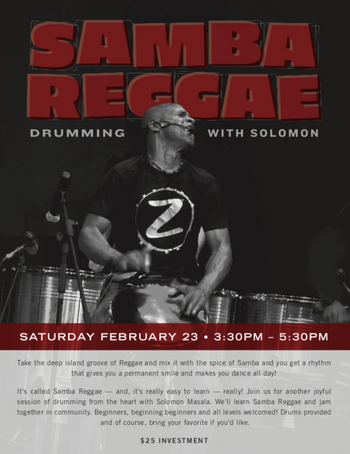 Samba Reggae Drumming with Solomon