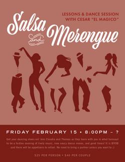 """Salsa+ Merengue Lessons with Cesar """"el Magico"""""""