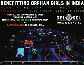 Benefit Yoga Class for India :: Glow in the Dark