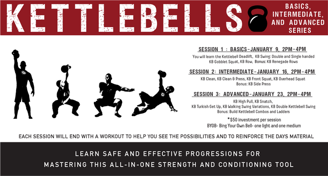 Kettlebells! Beginner, Intermediate, & Advanced Series
