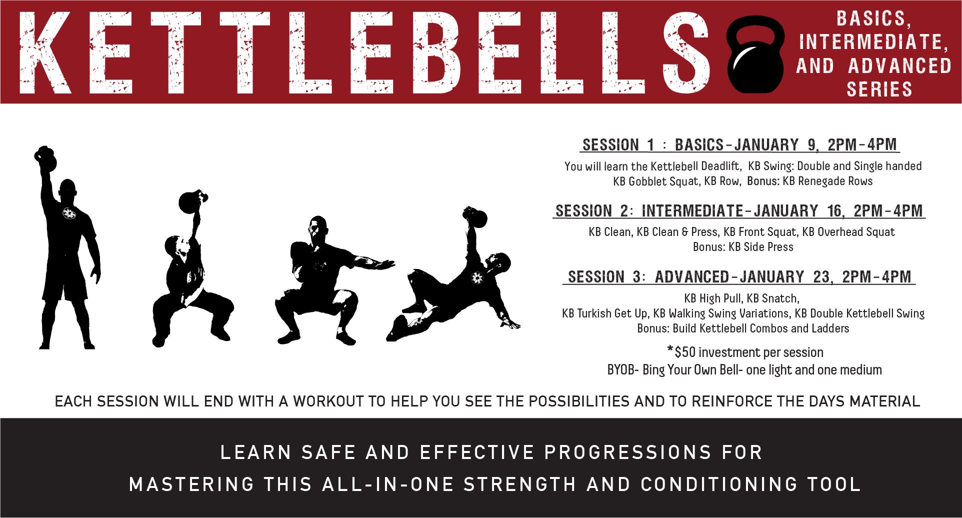 Kettlebells! Beginner, Intermediate, & Advanced Series