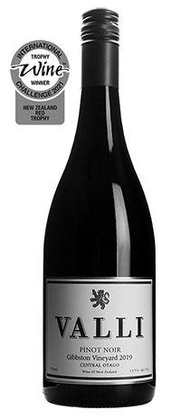 Trophy Winning Valli Gibbston Vineyard Pinot Noir 2019