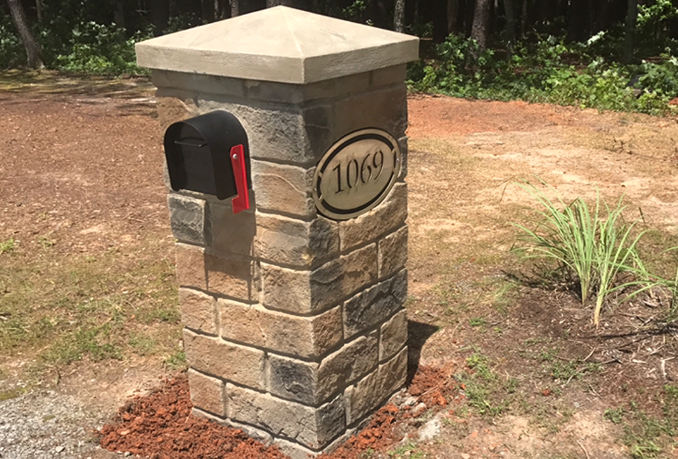 Stone  Mail Boxes and Columns