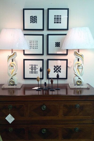 Vintage French lamps for sale by Savant Design Group, Houston.