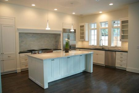 Custom built kitchen in Houston. Builder: Savant Design Group