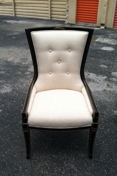 French upholstered chair from the 1940s available for purchase