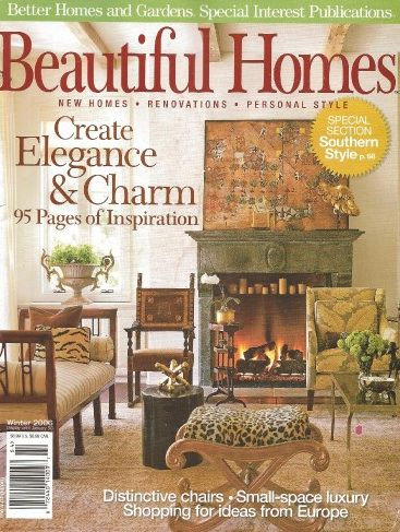 Interior design by Cherie Hassenflu featured in Beautiful Homes