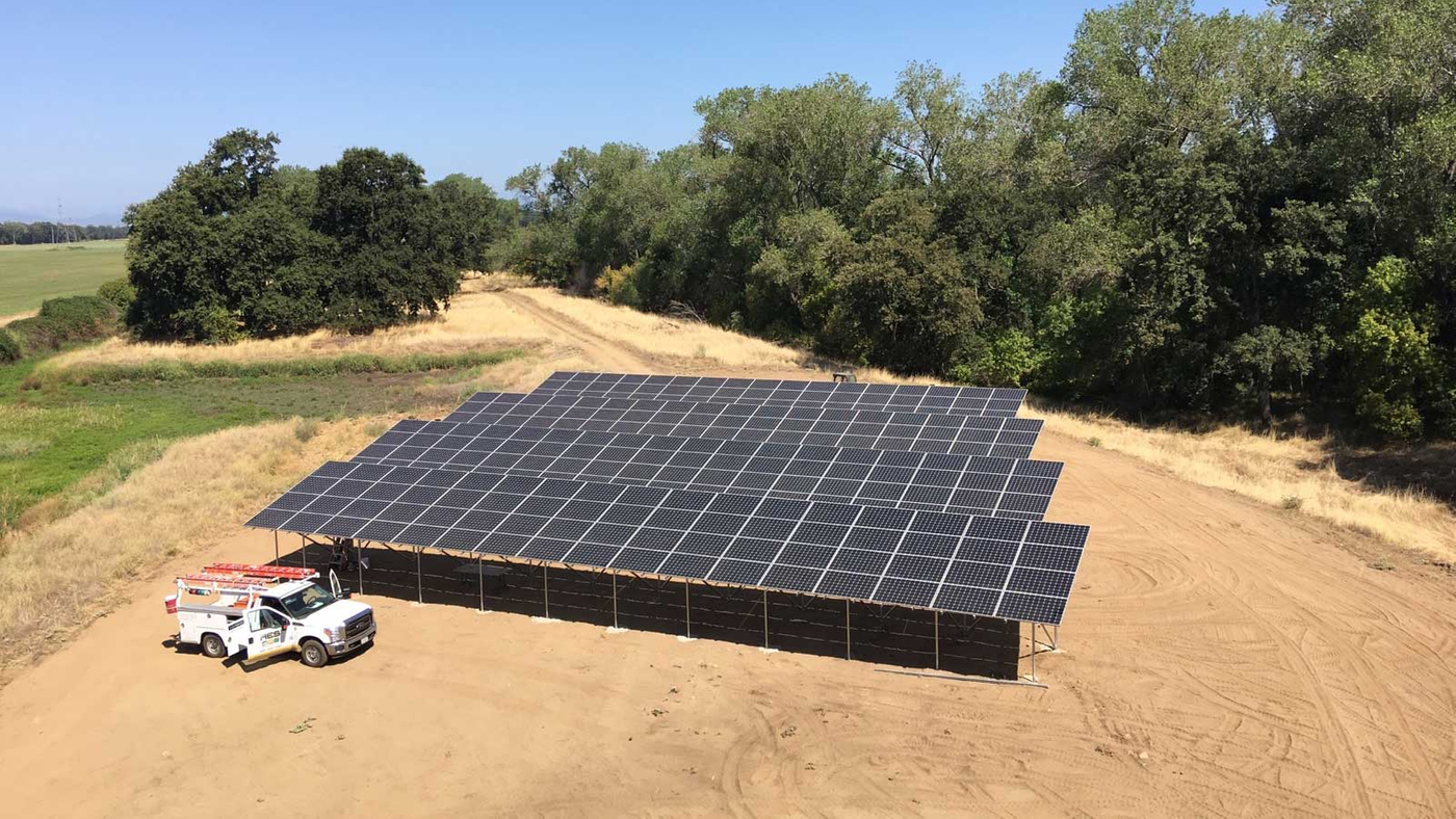 Commercial Solar Panel Installation Anderson, California