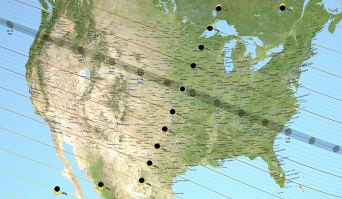 2017 Solar Eclipse Map