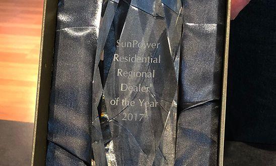 SunPower Residential Regional Dealer of the Year 2017