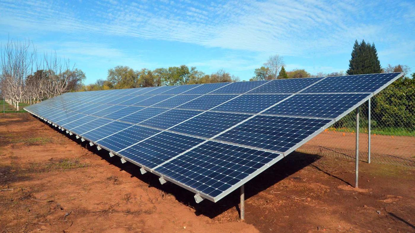 Ground Solar Panel Installation in Chico