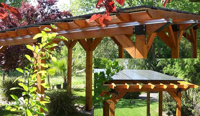 Solar Panels Garden Pergola