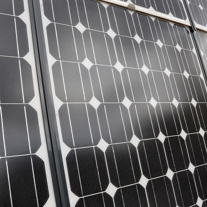 close up image of solar panels