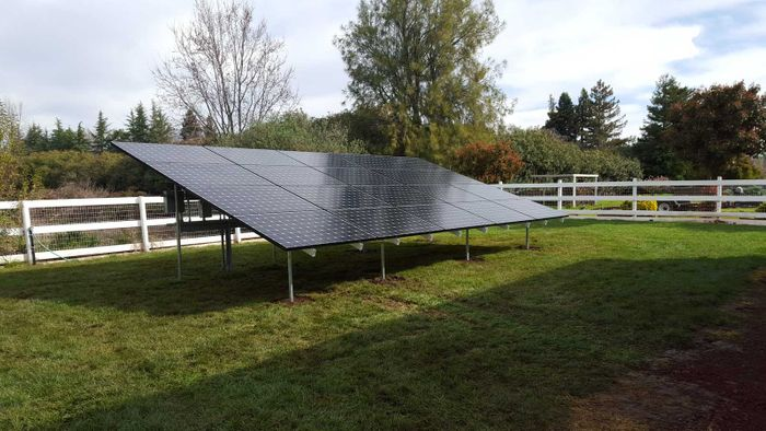 Ground Mount Solar Panels in Chico