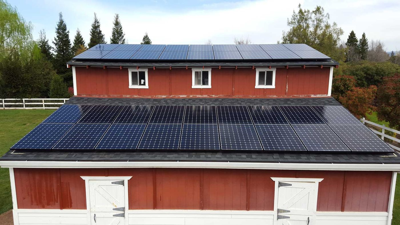 Solar Panels on Barn Chico, CA