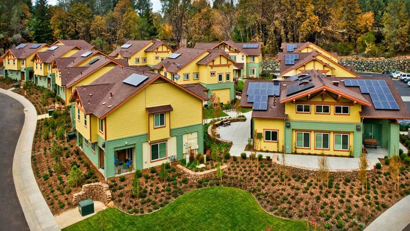 Paradise Community Village Apartments California Solar Panels