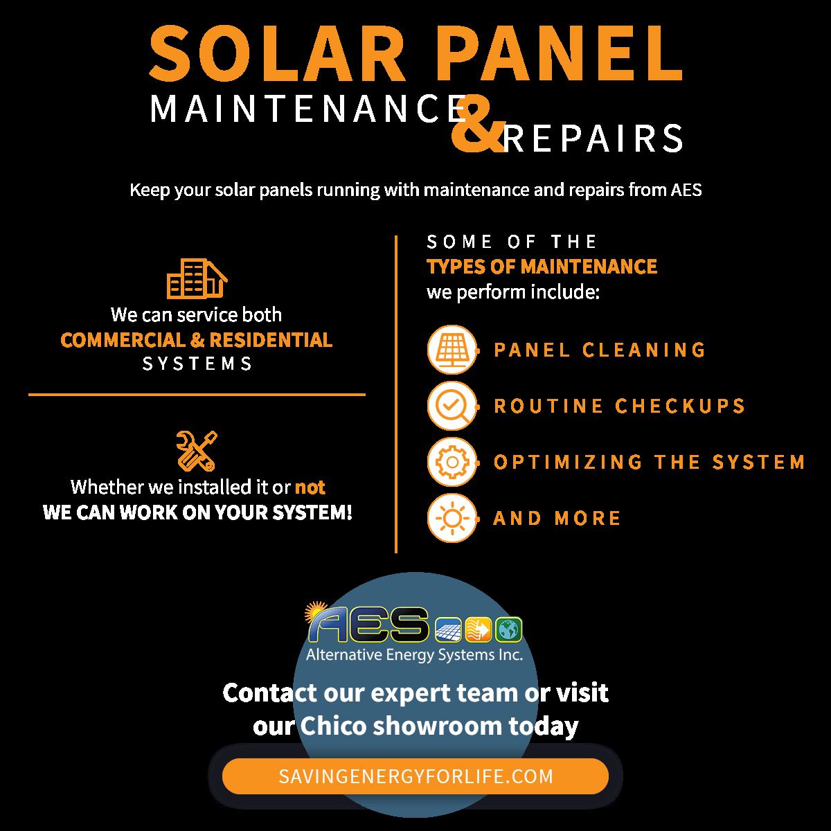 Solar Panel Maintenance And Repairs infographic