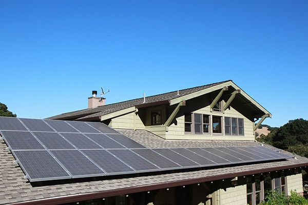 photo of a residential solar system