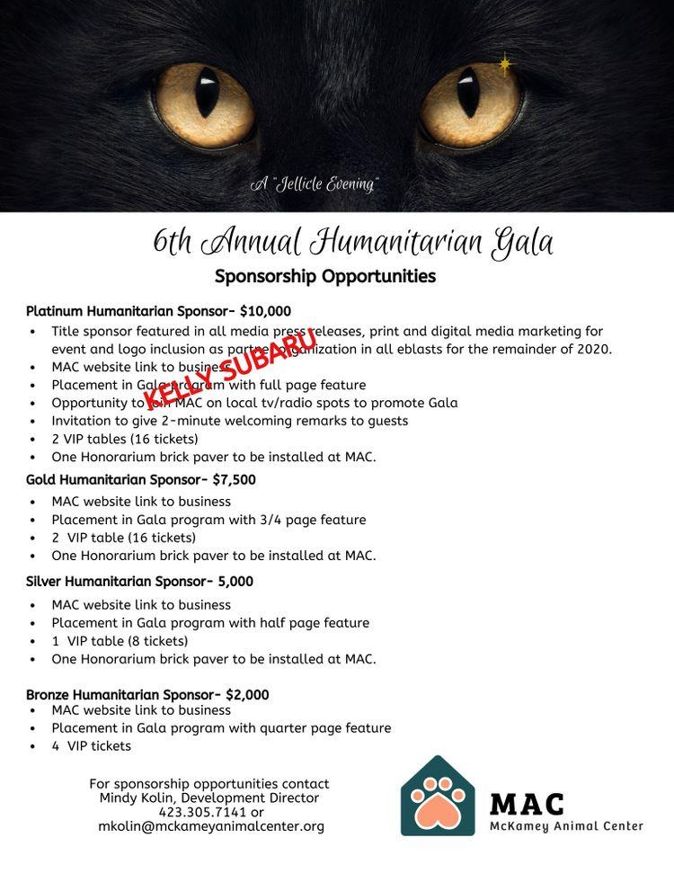 Sponsor levels Humanitarian Honors Gala.jpg