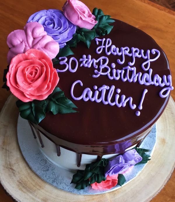 Custom Birthday Cake in Downtown Austin, Texas