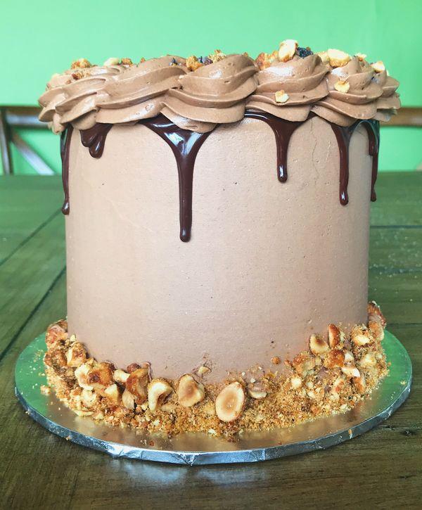 Custom Chocolate Cake Design