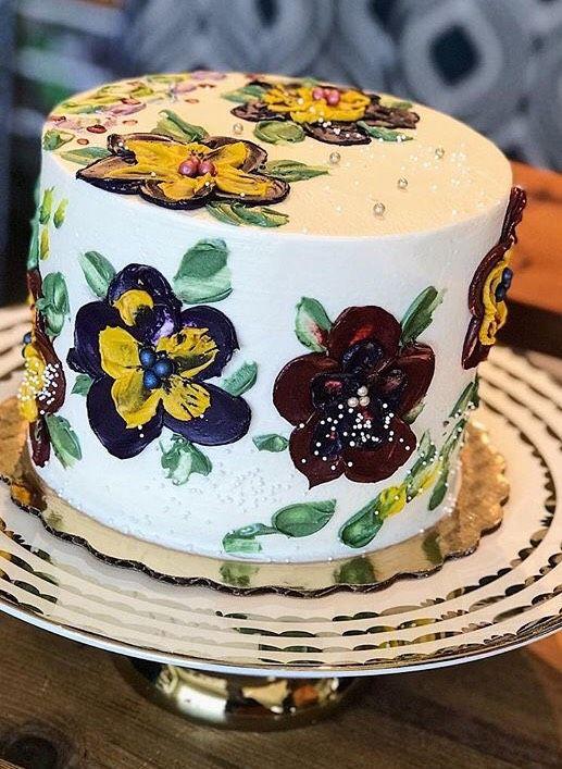 Custom Flower Design Cake Austin Texas