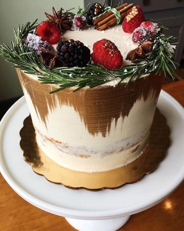 Custom Winter Themed Cake Design