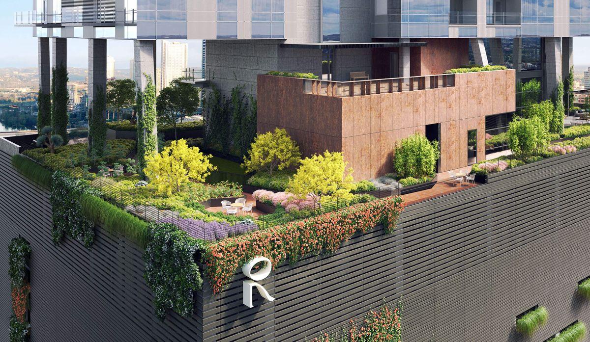 Modern Rooftop Garden Austin, Texas