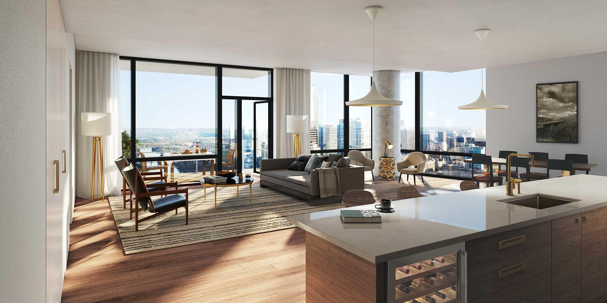 Austin Modern Luxury Condos Rendering