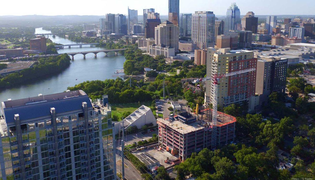Rainey Street New Condos Aerial View