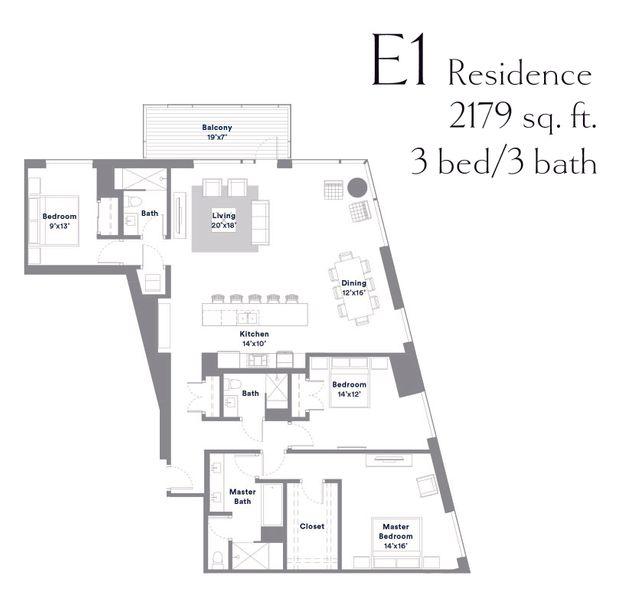 Austin Modern Condo Floor Plan