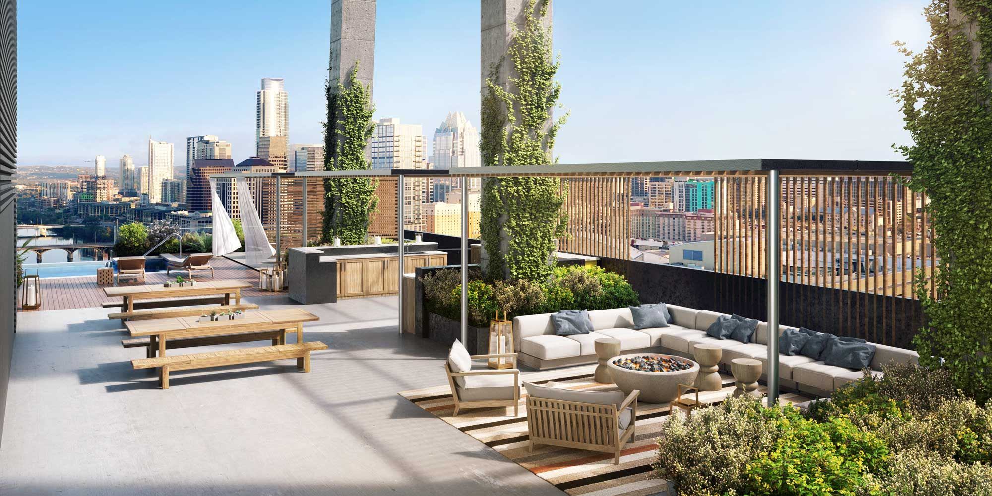 Outdoor Rooftop Kitchen
