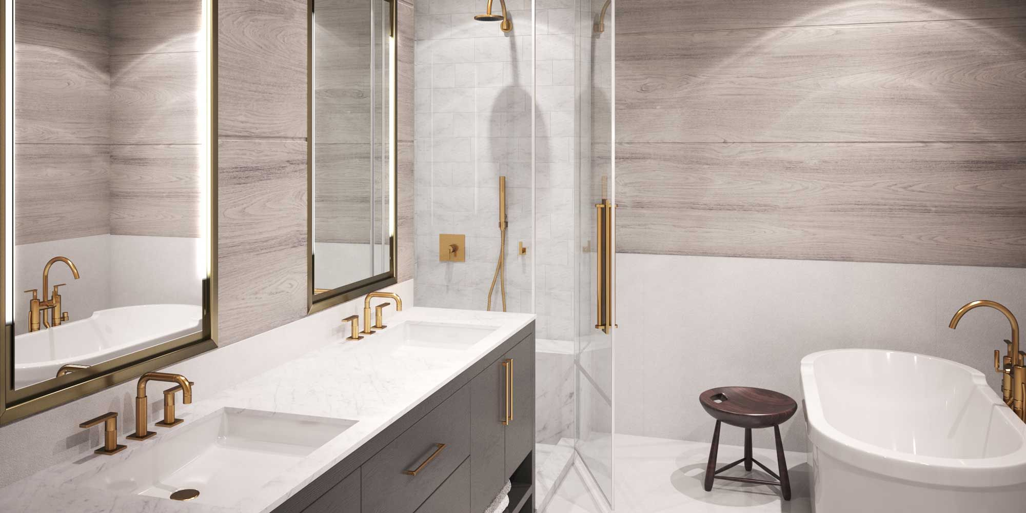 Modern Bathroom Design - Austin Condos