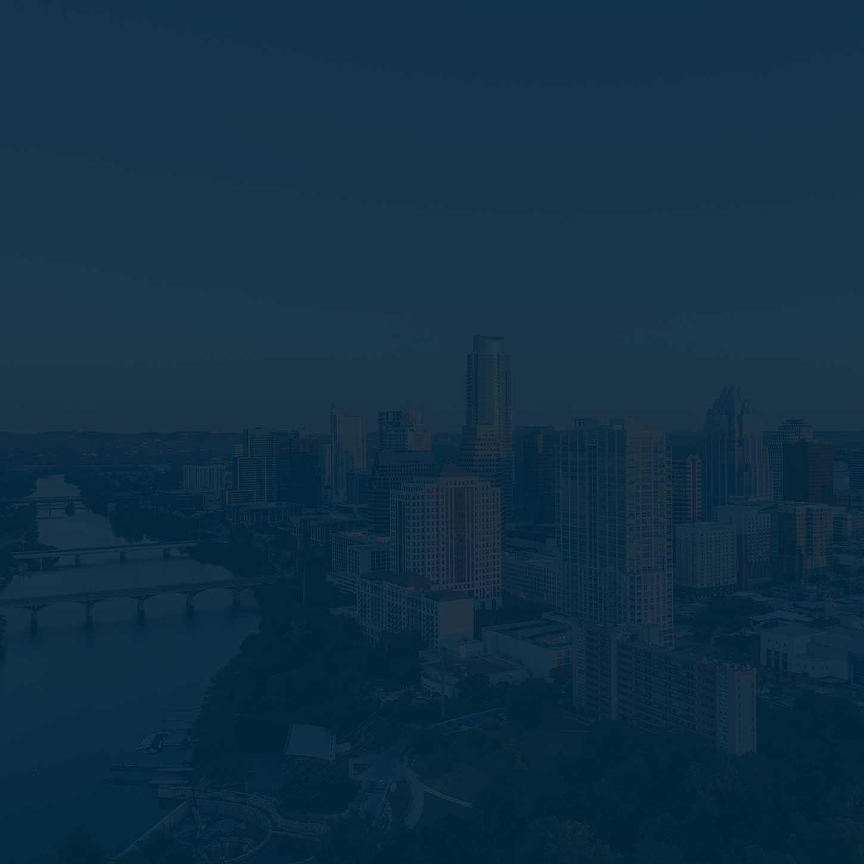 Austin skyline with a blue overlay