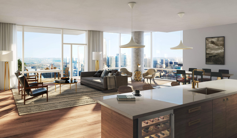 Living Area of E1 Floor Plan