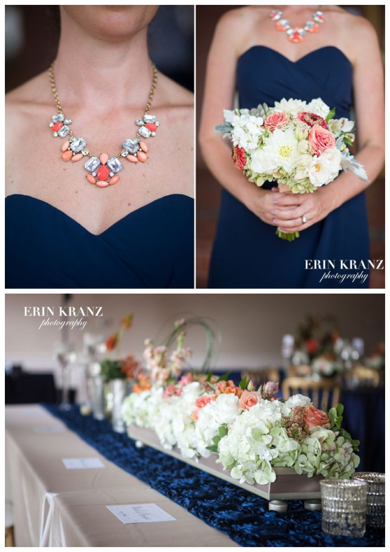 Navy, Coral, Gold